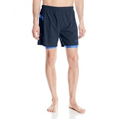 Speedo Mens Hydrosprinter with Compression Swimsuit Shorts Workout & Swim Trunks, New Navy, - intl