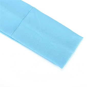 Sports Cotton Stretch Headbands Running Yoga Sweat Hair Bands Women Hair Band Blue 21.5cm - intl