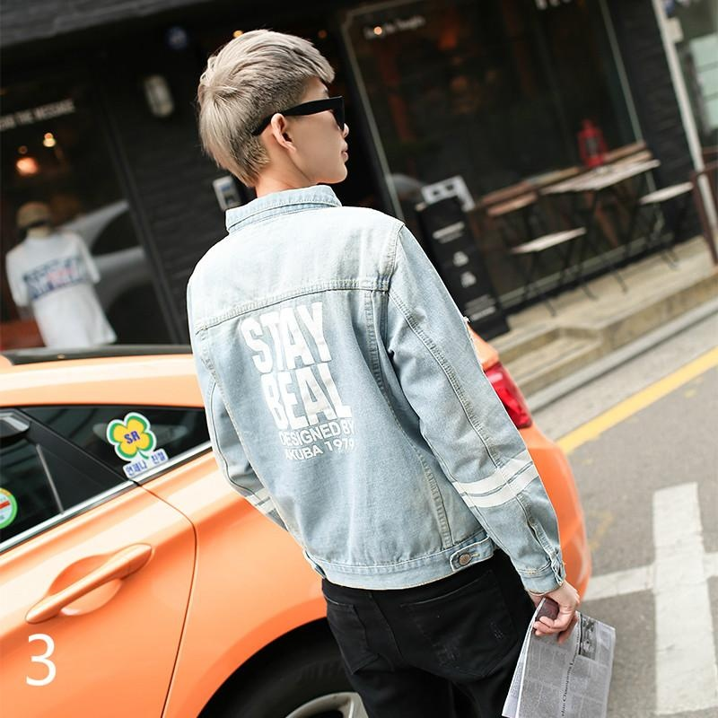 Spring and Autumn Men's Thin Section of the Hole Jacket KoreanVersion of Slim .