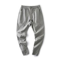 Spring and Autumn New thin breathable men casual pants elastic pantyhose (Abu-abu terang