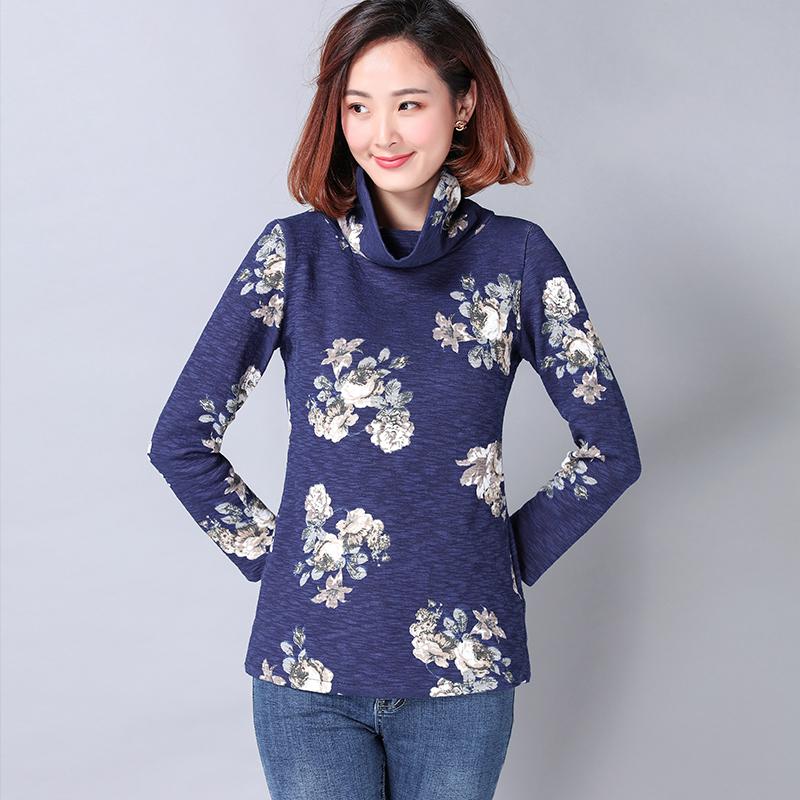 suihua-korea-fashion-style-bagian-yang-panjang-dari-musim-semi-dan-musim- gugur-tumpukan-kerah-bottoming-kemeja-t-shirt-yi-zhang-qing-bawah-bunga-1508397103- ...