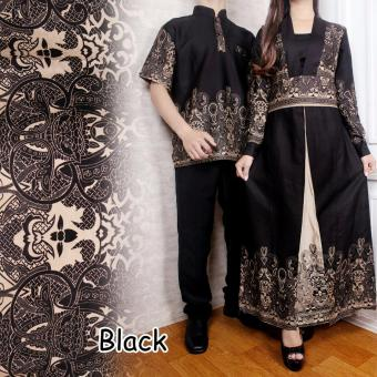 Suki Couple Batik Cewe Cowo Anand - Black