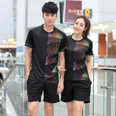 Summer Women's O-neck Breathable Comfortable Short Sleeve SportsSuits Badminton Volleyball Suits - intl
