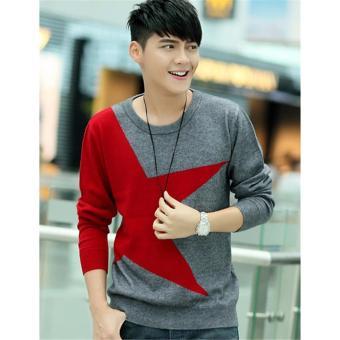 Sweater Pria Rajut - Big Star Red - Rajut Tribal