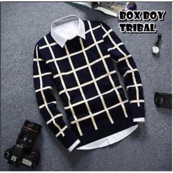 sweater pria rajut-BOX BOY TRIBAL-rajut terbaru-Sweater tribal