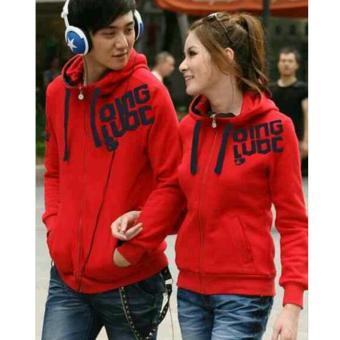 Sweater Zipper Couple Red