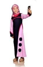 Syamsakids Baju Muslim Anak SL090C - Gamis Hijab - Multicolor