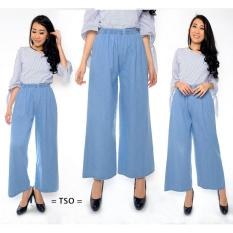 T-OS Celana Kulot Jeans Wanita [BLUE]