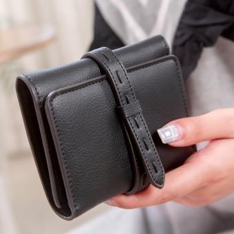 Tango segar perempuan Jepang dan Korea Fashion Style memompa dengan dompet wanita wallet (Hitam)