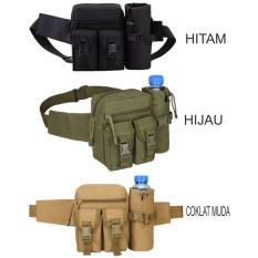 Tas Pinggang Dengan Tempat Botol Tactical Army B321 - Hitam