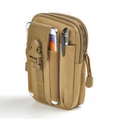 Tas Pinggang Pria Army Tactical Molle Waist Small Bag Military - Khaki