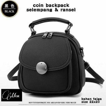 Tas ransel Backpack elegan wanita koin CLAAFASHION
