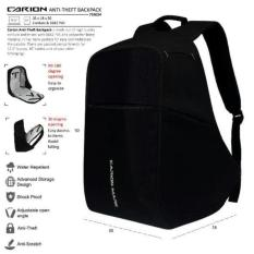 Tas Ransel Anti Maling Smart Backpack Anti Theft Carion Mark Original