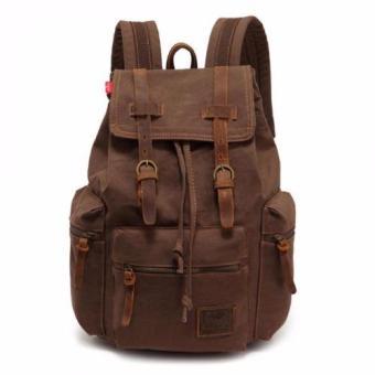 Tas Ransel Backpack Kanvas Canvas Military Style Outdoor Laptop Hiking Punggung Travelling Travel bag School -