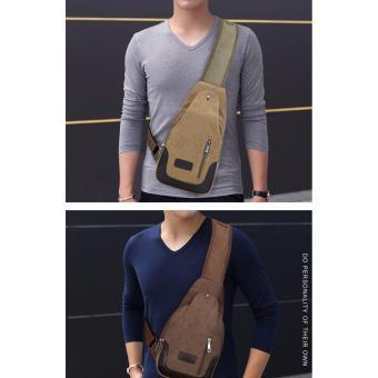 SM 549 - Tas Selempang Pria Import men Sling Shoulder Bag Kanvas Canvas - khakis /