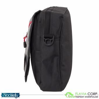Tas Selempang Pria Mini Sling Bag LOZ 893 Black Grey - 3