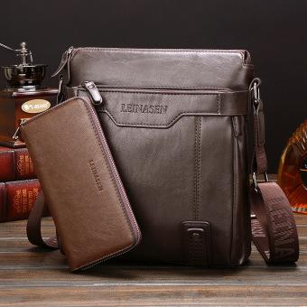 Tas tangan kulit kualitas tinggi tas crossbody bag tas kulit priaKorea bagian vertikal maupun bisnis tas