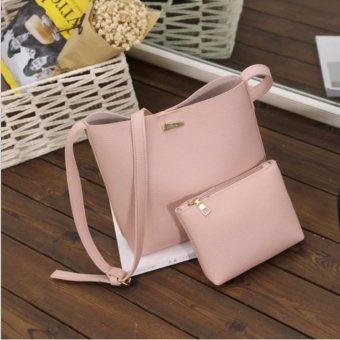 Tas Wanita Batam Fashion Shoulder Bag Free Fashion Multifunction Pouch- Pink