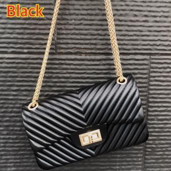 tas wanita murah import branded fashion lucu pesta selempang CHEVRON JELLY - 2