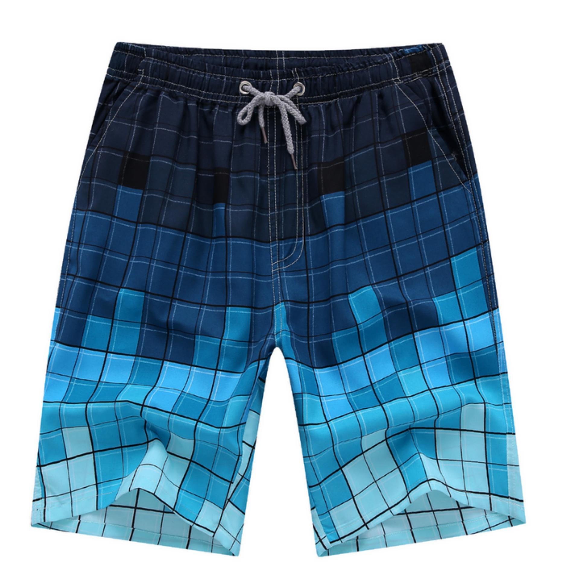 ... TB santai pria Korea ukuran besar celana pantai biru -International ...