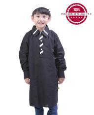 TDLR - Baju Kurta / Baju Muslim Anak Laki-Laki Hitam - TGG 1025