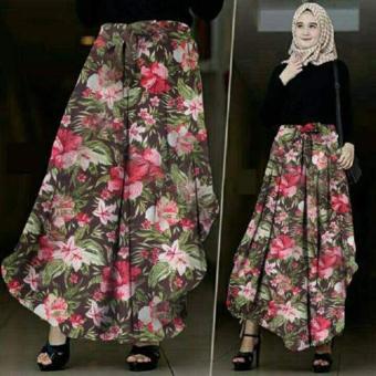 Tekken Fashion -Pakaian Muslimah Wanita - Pants Agoest Brown .