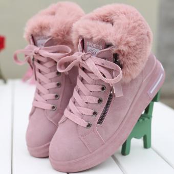 Terang Jiujiu Korea Fashion Style mulut mewah renda sepatu wanita tinggi atas sepatu (1829-