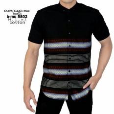the most - Kemeja Pendek Hitam Tribal kemeja santai pria atasan pria kerja kantor beli baju distro bandung terlaris termurah best seller motif batik kaos