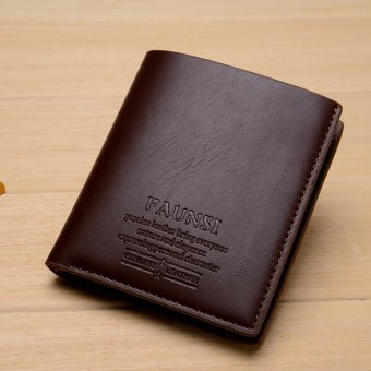 Tide Fashion Men's Leather Short Style Solid Wallet - intl