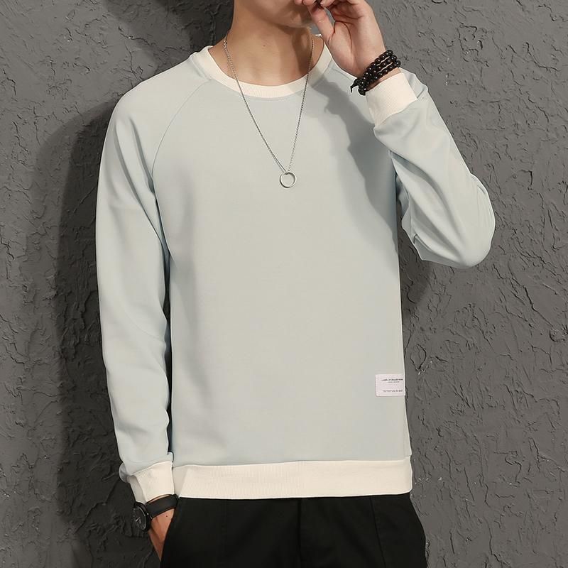 Flash Sale Tide kapas merek laki-laki dan musim gugur leher bulat sweater baru lengan