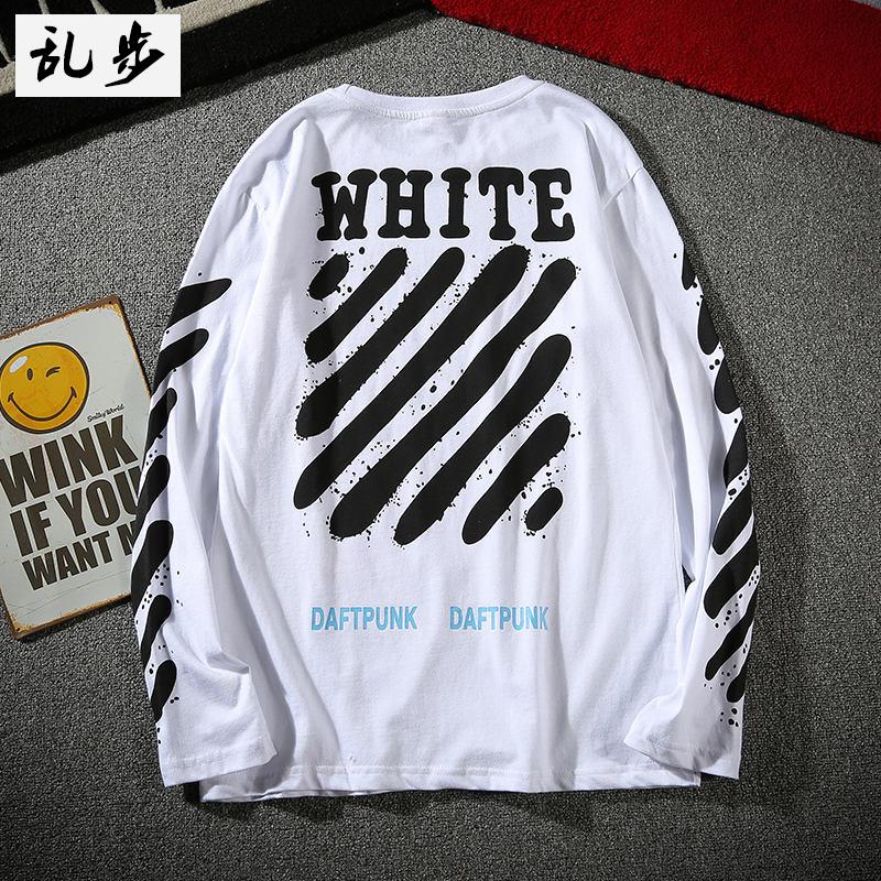 Flash Sale Tide merek di Eropa dan Amerika katun pemuda mahasiswa kemeja t- shirt (