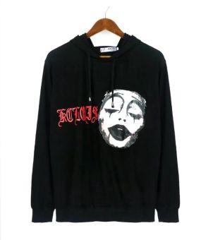 Pencari Harga Tide merek hip-hop meringis huruf cetak longgar sweater (Hitam) Perbandingan harga