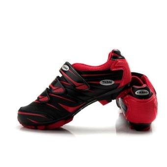 harga Tiebao MTB Bersepeda Sepatu Untuk Shimano SPD Sepatu Sepeda SistemMerah Hitam Lazada.co.id