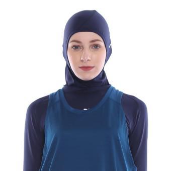 Tiento Fit Hijab Sport Jilbab Instant Kerudung Olahraga Renang Tinju Zumba  Fitness Yoga Senam Lari Futsal 476e513ba4