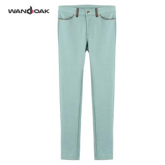Gambar Tipis elastis Slim Legging pensil celana (Hijau muda) (Hijau muda)