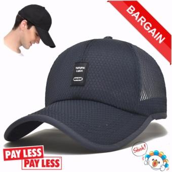 Topi Bisbol Kualitas Olahraga Golf Snapback Kolam Sederhana Topi Padat  (biru Tua)-International 7a7a0698a1