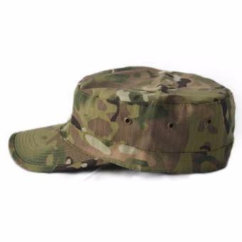 Gambar Topi Flat Top Topi Pria Topi Ariel Topi Militer Komando Korean  FlatCap Outdoor Leisure Sport 4d4e62669a