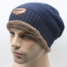 Topi Kupluk Beanie Wool Winter Premium Quality - Blue
