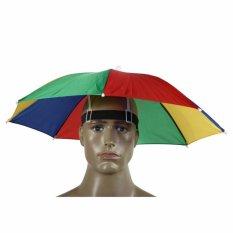 Topi Payung Kepala Headband Umbrella Hat Sun Shade Topi Mancing Pancing Golf Fishing Unik Funny Outdoor Portable Unik Praktis Mini Nyaman Ringan Lindungi dari Panas Terik Matahari Hujan Head Protection - Multicolor