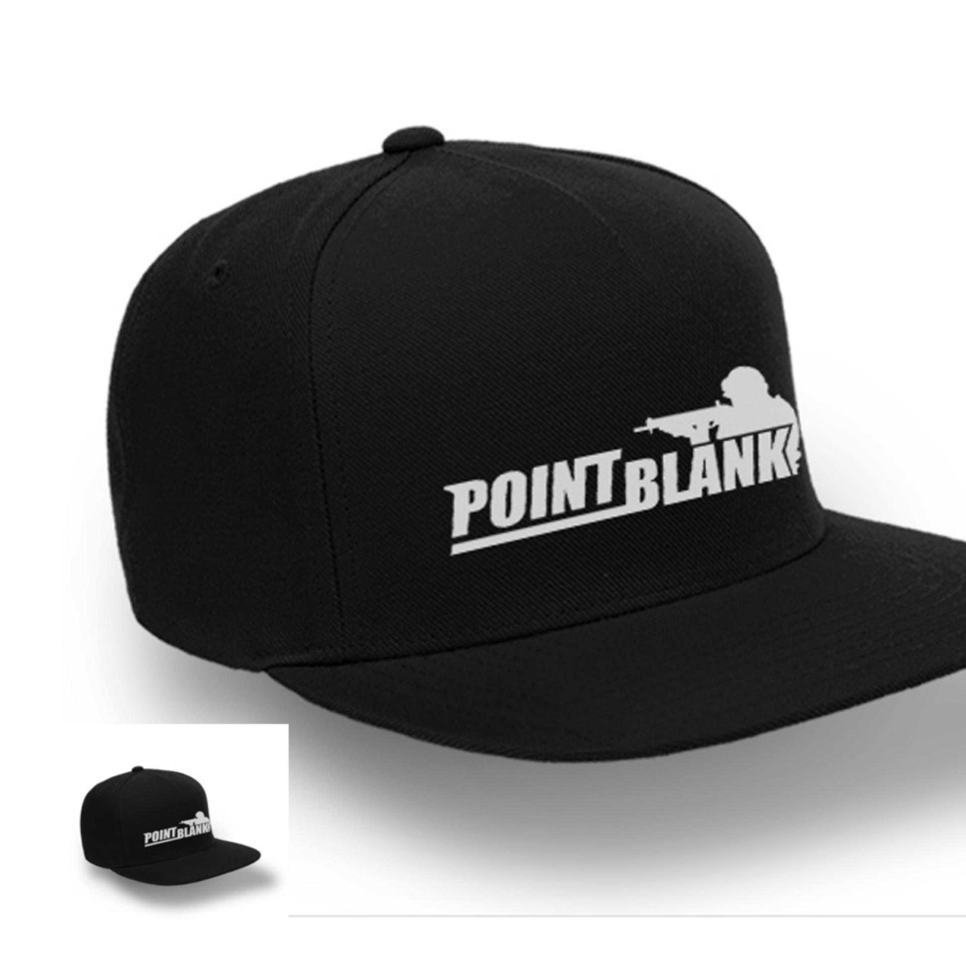Flash Sale TOPI SNAPBACK Point Blank BLACK PREMIUM
