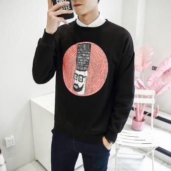 Online murah Tren pria pullover longgar kasual mantel sweater baru (Hitam)  Terbaik Murah 27b117cf0b