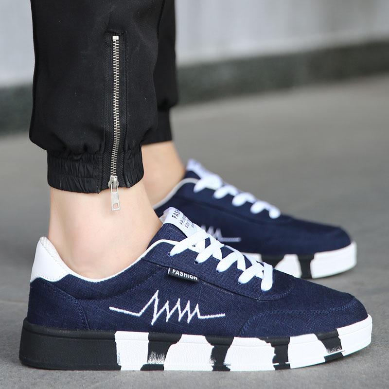 Tren sepatu olahraga beberapa sepatu pasang sepatu (Kanvas sepatu 2188  putih dan biru) abccdad856