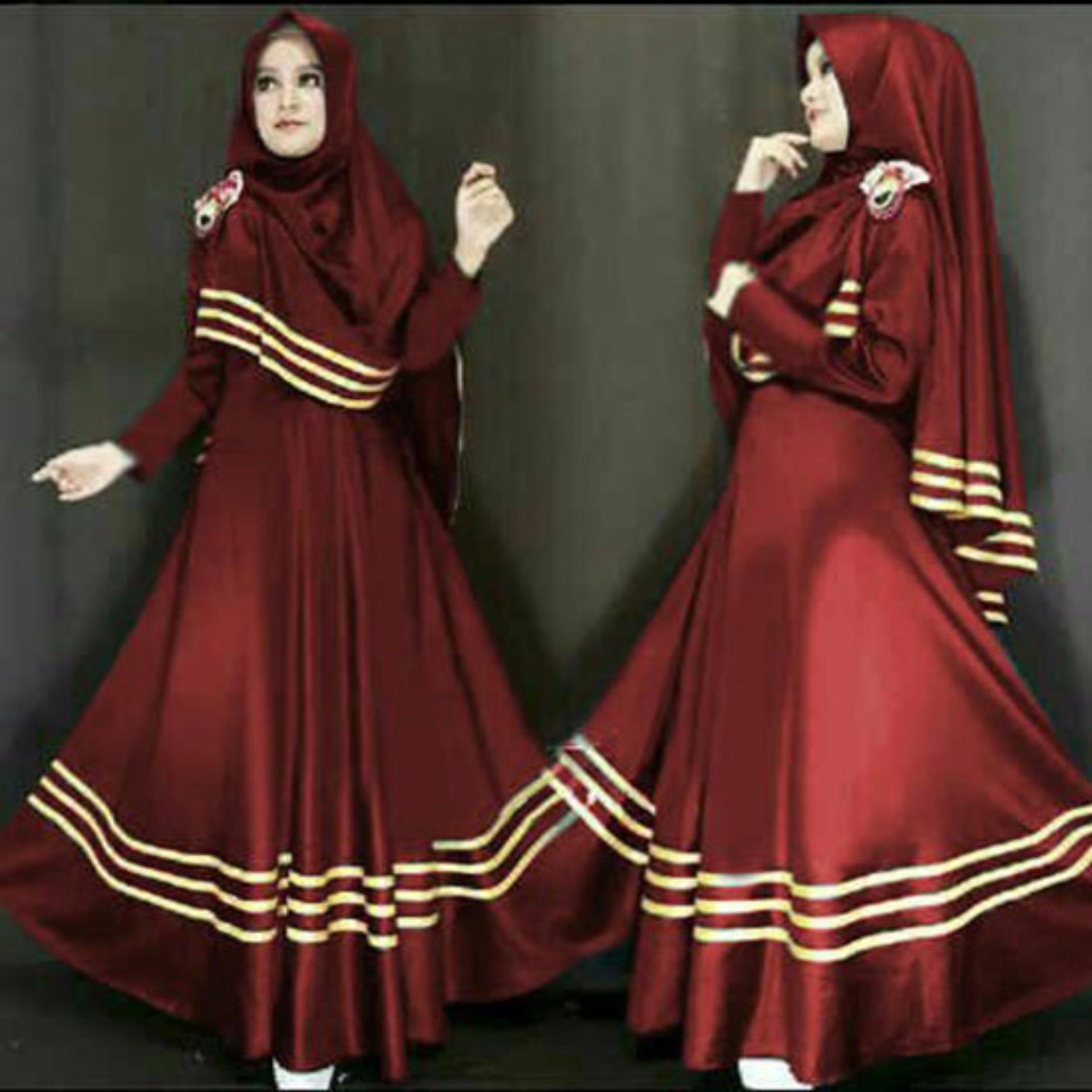 Flash Sale Trend Baju - Maxi Busui Bergo Uk L - Maroon