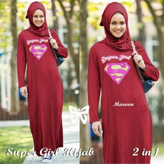 Trend Baju-Maxi Superman Uk L - Maroon