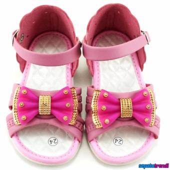Detail Gambar TrendiShoes Sandal Anak Perempuan Variasi Pita KX06 - Pink dan Variasi Modelnya