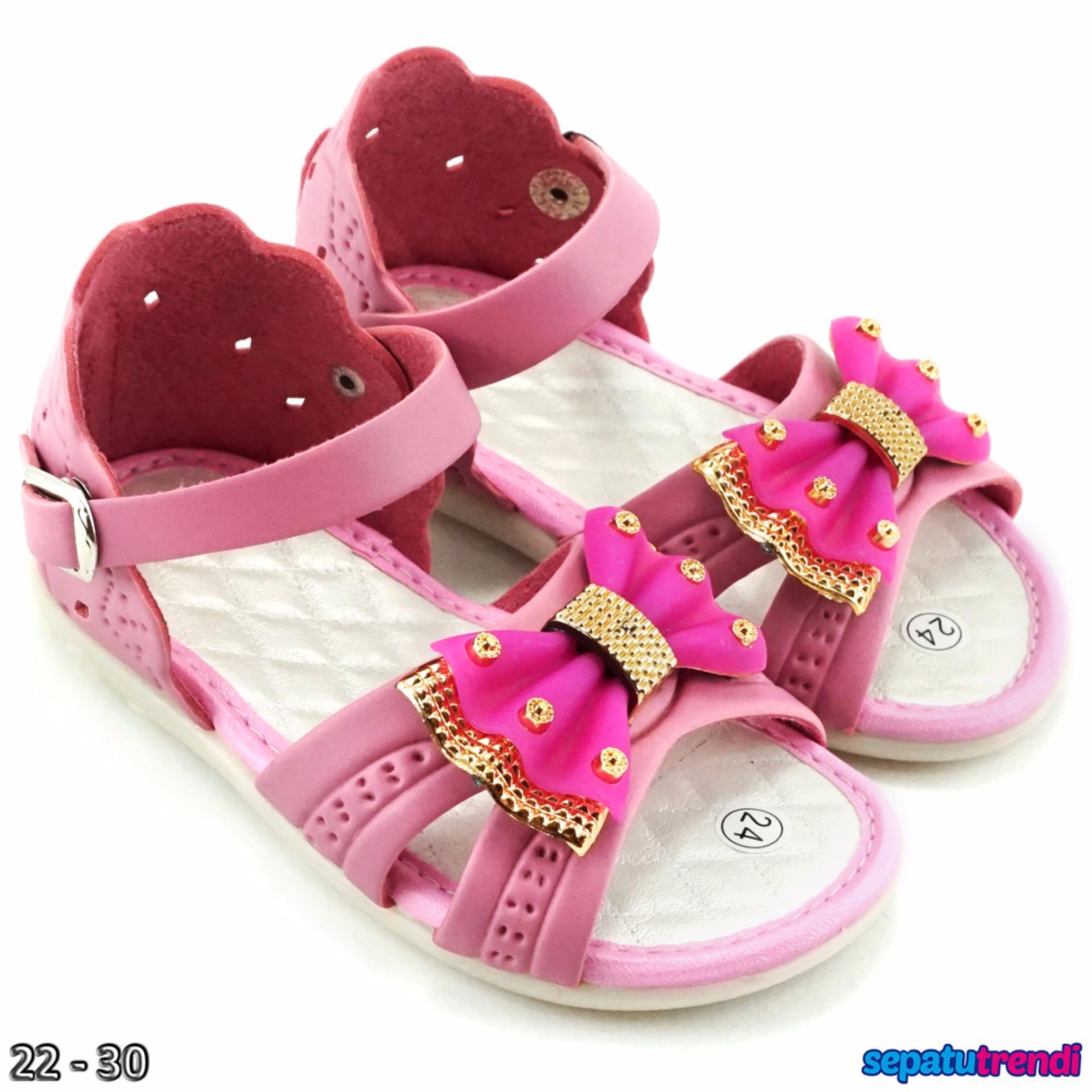 ... TrendiShoes Sandal Anak Perempuan Variasi Pita KX06 - Pink ...