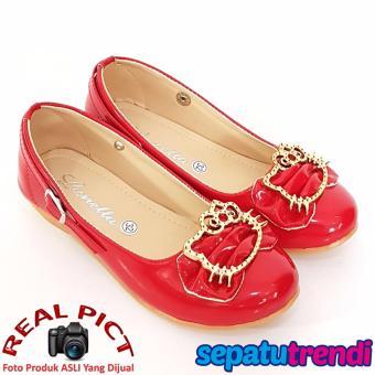Harga Terendah TrendiShoes Sepatu Anak Perempuan Cantik LNHK - Merah Harga Saya