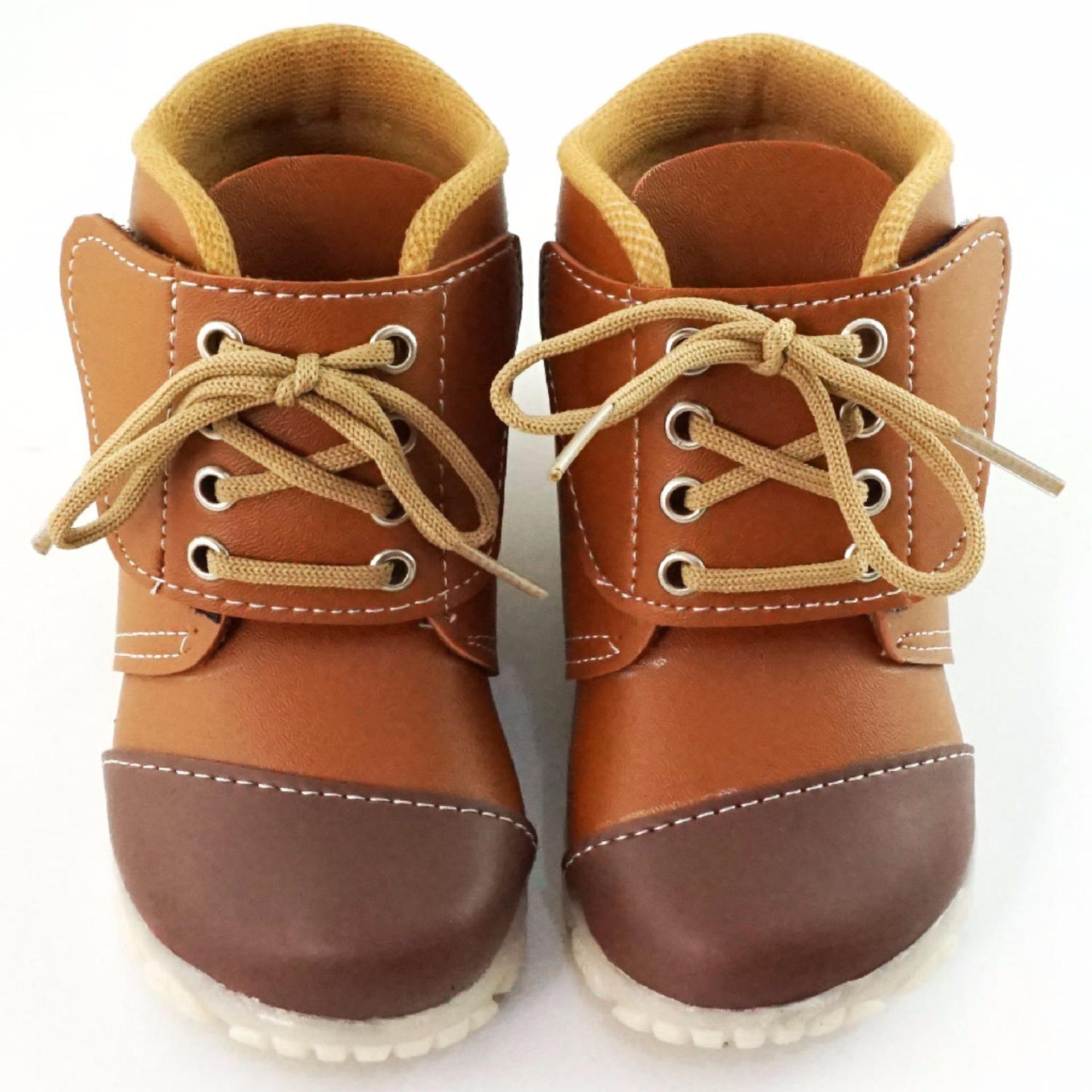 Trendishoes Sepatu Boot Anak Bayi Laki Laki Okeboy Ddokb Tan ... e47ed80ec5