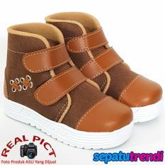TrendiShoes Sepatu Boot Anak Laki Suede Velcro XXSP - Coklat Tan