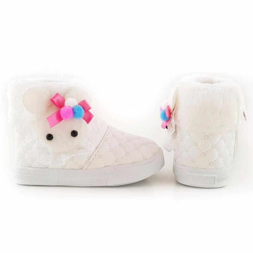 Trendishoes Sepatu Boot Anak Perempuan Knit Glitter Boneka Bulu Source TrendiShoes Sepatu Boot .